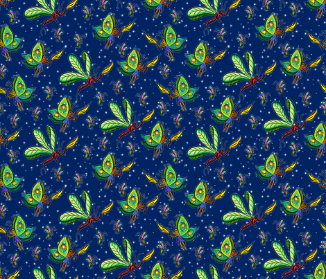 Fairy Night small fabric by enid_a on Spoonflower - custom fabric