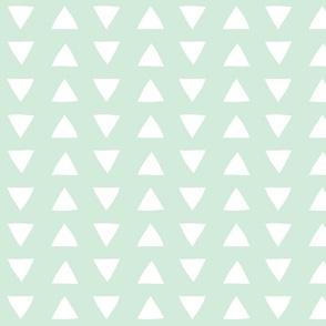 mint hand drawn triangles