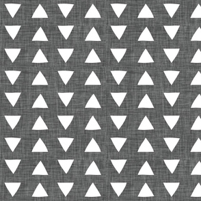 charcoal linen hand drawn triangles