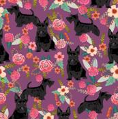 scottie dog florals fabric scottish terrier dog fabric