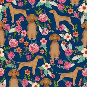 vizsla floral dog fabric florals dog design