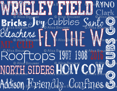 Chicago Cubs Words