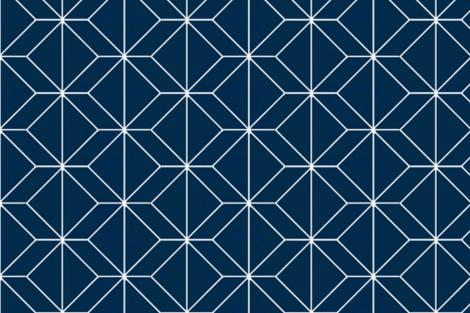Geometry French Navy fabric by ninaribena on Spoonflower - custom fabric