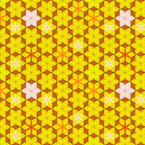 Mosaic flowers yellow