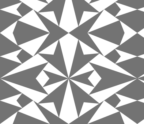 White-GrayTriangles fabric by katycornell on Spoonflower - custom fabric