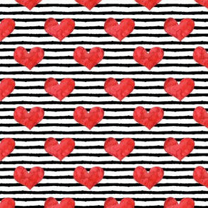 """watercolor hearts (1"""" scale ) 
