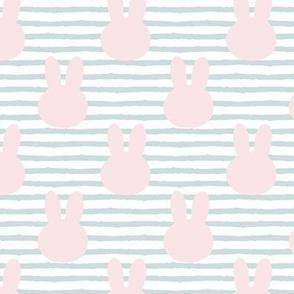 bunny on stripes || pastel