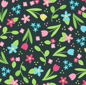 Rditsy_spring_flowers_on_dark_grey_150_hazel_fisher_creations_shop_thumb