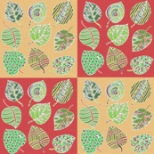 Painted Patchwork Leaves