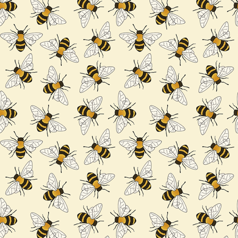 Busy Bees fabric by hazel_fisher_creations on Spoonflower - custom fabric
