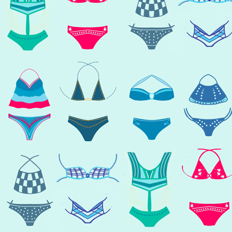 Bikini Ready fabric by sewindigo on Spoonflower - custom fabric