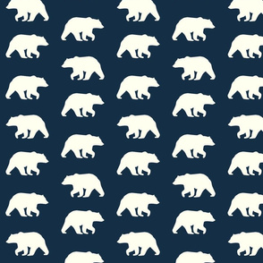 Bear Hike // Ivory bears on Mandy Navy