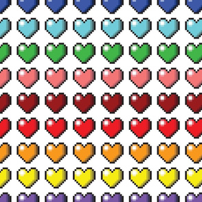 Video Game Pixel Hearts