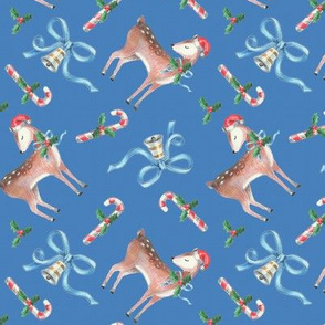 Vintage Christmas Reindeer with Candycanes