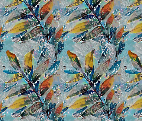 painted_leaf fabric by lfntextiles on Spoonflower - custom fabric