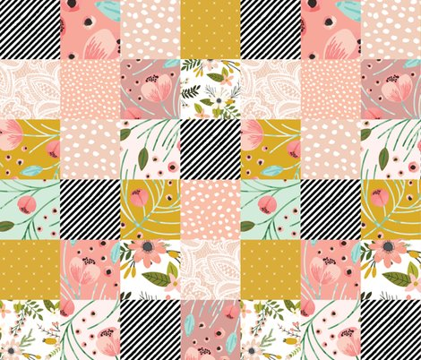 blush sprigs and blooms winter floral loveys fabric