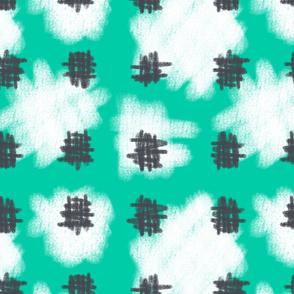 Sorbet green Sky Hatching