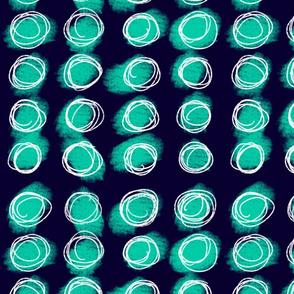 Sorbet Navy Dots