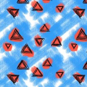 Sorbet Blue Sky triangles