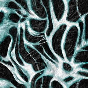 Navy-Teal White Dendrite