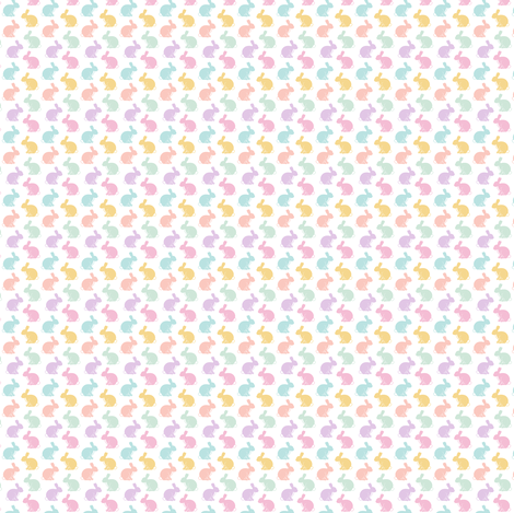 (micro) easter bunnies  || pastel fabric by littlearrowdesign on Spoonflower - custom fabric