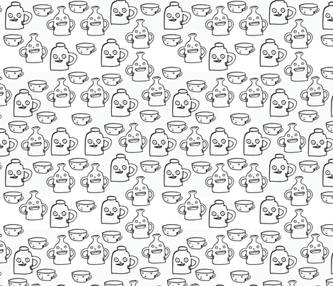 Little Jugs fabric by katiecatherine on Spoonflower - custom fabric