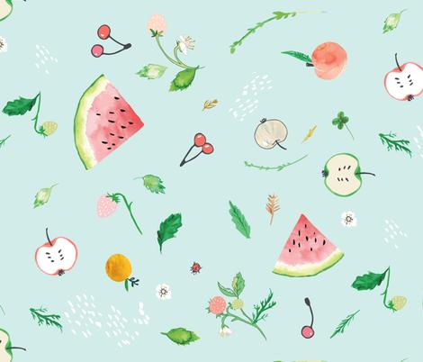 Ambrosia Fruit Salad (LARGE) fabric by nouveau_bohemian on Spoonflower - custom fabric