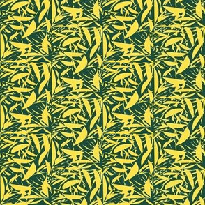 Lemon Crisp on Dark Vintage Green