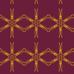 Chains of Goldwork on Boysenberry