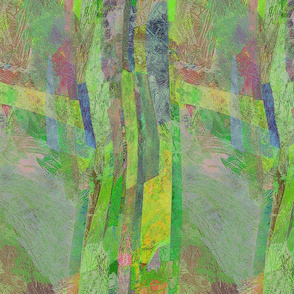 painting- abstract greenery