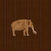 Wooden Elephant for Pillow