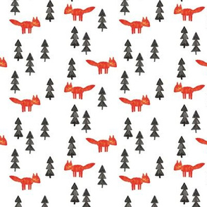 fox woods  || watercolor