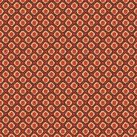 Cell Tulips - Red fabric by siya on Spoonflower - custom fabric