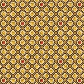 Cell Tulips (Mustard + Odd Red)