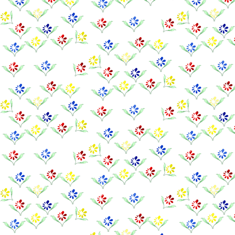 Spring Flowers fabric by flutterbi on Spoonflower - custom fabric