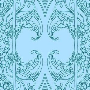 Simple Art Nouveau Garden