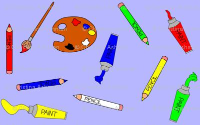 Art Supplies Blue