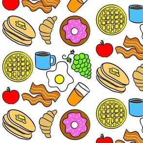 Colorful Breakfast Foods
