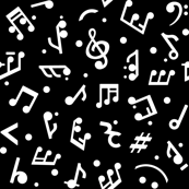 Music Notes on Black BG small scale