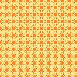 Retro orange circles