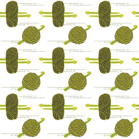 yarrn9nwhite-01 fabric by amyjeanne_wpg on Spoonflower - custom fabric