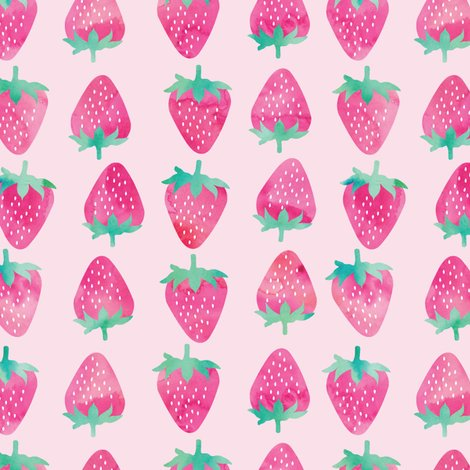 Rrwatercolor_pink_strawberries_on_pink-01_shop_preview