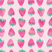 Rrwatercolor_pink_strawberries_on_pink-01_shop_thumb