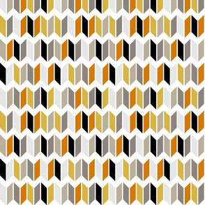 chevron slices grays orange yellow