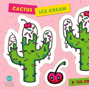 Cactus Ice Cream Pillow