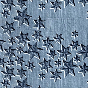 Embossed Falling Stars