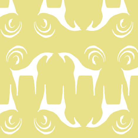 SWEET CINDY'S HORSES Straw Yellow & White fabric by shi_designs on Spoonflower - custom fabric