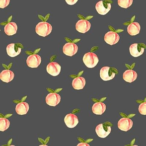 watercolor peaches || dark grey