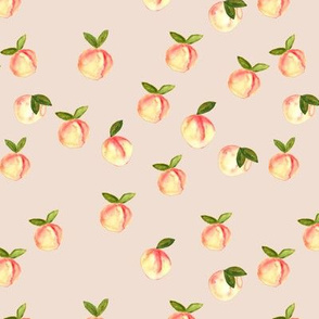 watercolor peaches || peach