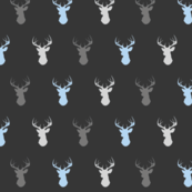 Deer- Baby Boy woodland - blue grey charcoal